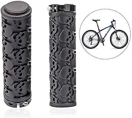 Xrten Puños de Bicicleta Universales Antideslizantes para Ciclismo de Montaña Bicicletas de Carretera ect, Negro: Amazon.es: Electrónica