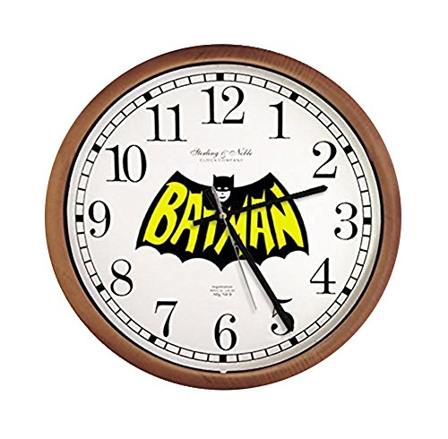 (The Furniture Cove New Espresso/Cappuccino Finish Round Wall Hanging Clock featuring your choice of Themed logo! (Batman Comic)