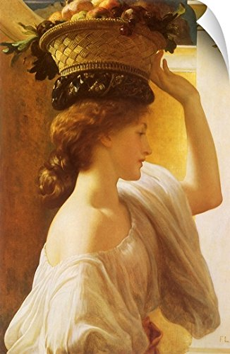 Canvas on Demand Frederic Leighton Wall Peel Wall Art Print entitled Girl with Fruit Basket 20