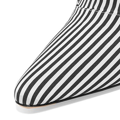 Fsj Kvinner Skli På Lukket Tå Muldyr Faux Suede Sandaler Stiletto Høye Hæler Klassiske Sko Størrelse 4-15 Oss Linjer