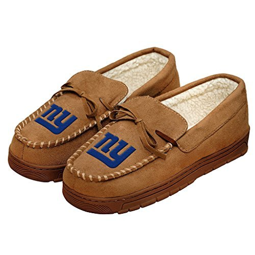 Forever Collectibles Football Mens Team Logo Moccasin Slippers Shoe - Pick Team (New York Giants, Large) from Forever Collectibles
