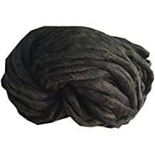 Anyren Ball Woolen, DIY Wool Yarn Soft Bulky Arm Knitting for Crochet & Knitting Multi Pack Variety Colored Assortment (Black)