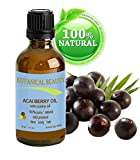 "Botanical Beauty ACAI BERRY OIL 100% Natural / Cold Pressed Carrier Oil. 30ml / 1 Fl.oz. For Face, Body And Hair. From Amazon Rainforest. ""Number One Superfood For The Skin And Hair."""