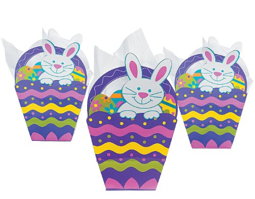 Paper Easter Basket Shaped Gift dozen