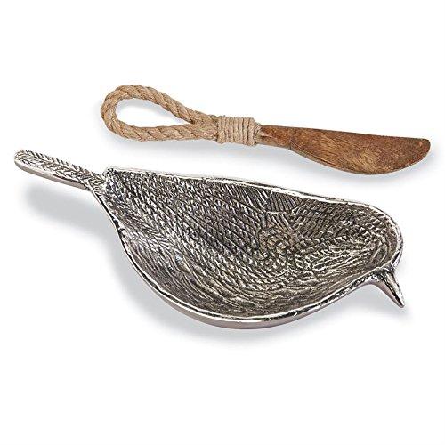 Rustic Bird Metal Bowl Spreader
