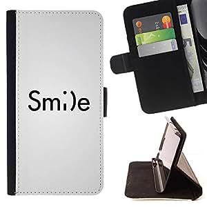 Momo Phone Case / Flip Funda de Cuero Case Cover - Émoticône Inspiring texte blanc - HTC DESIRE 816