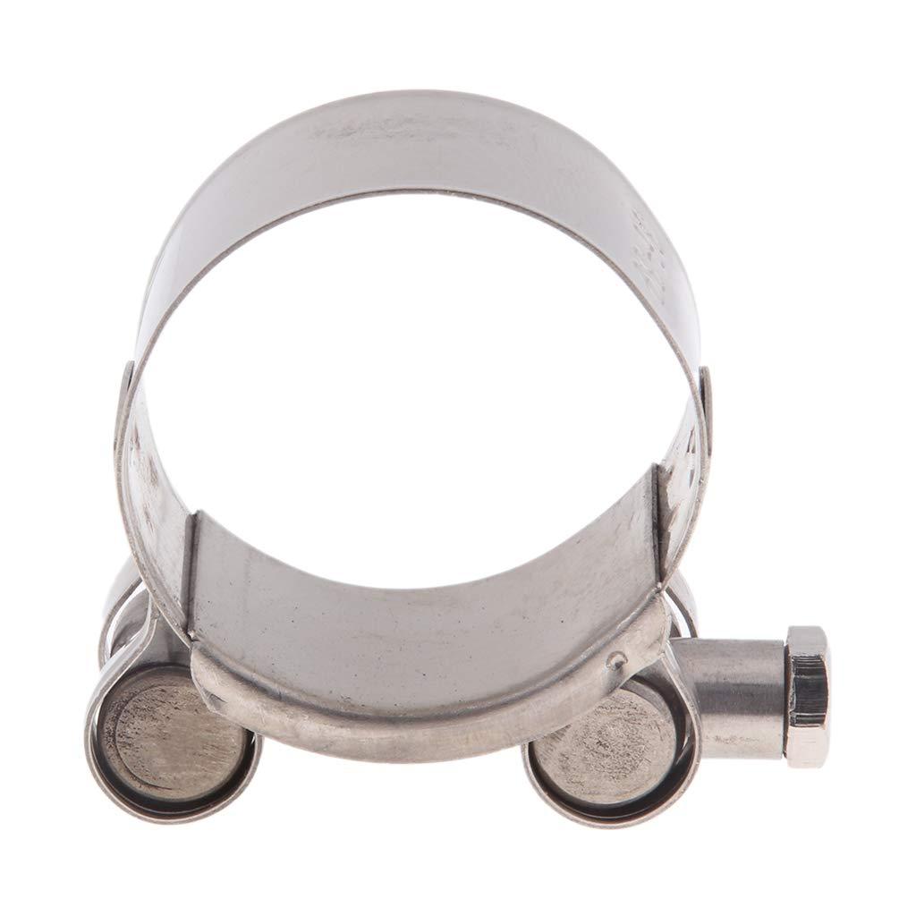 Baoblaze Motorbike Exhaust Clamp Clip Stainless Steel Muffler Silencer Clamps 44-47mm
