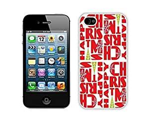 Recommend Design For Iphone 5/5s Cover Protective Skin Case Merry Christmas White For Iphone 5/5s Cover Case 25