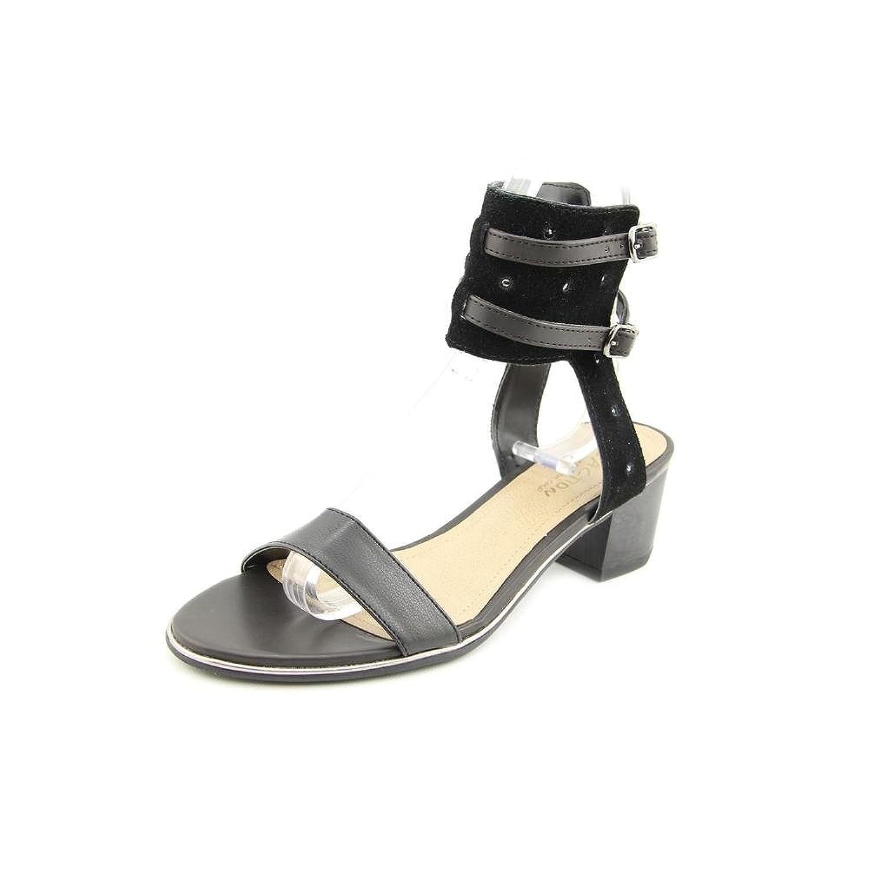 Kenneth Cole Reaction SlawTer Leather Sandals Black Size 75
