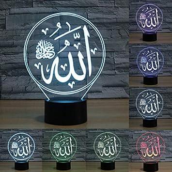 Amazon.com: Lámpara de mesa LED con 7 colores cambiantes ...