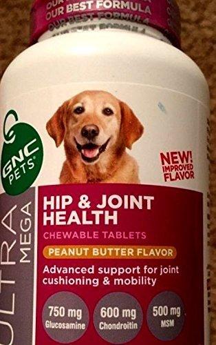 GNC Pets Ultra Mega Hip & Joint Health Peanut Butter Flavor 60 Chewable Tablets ()