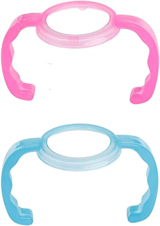 Baby Plastic Cup Feeding Bottle Trainer Easy Grip Handles Holder for Comotomo