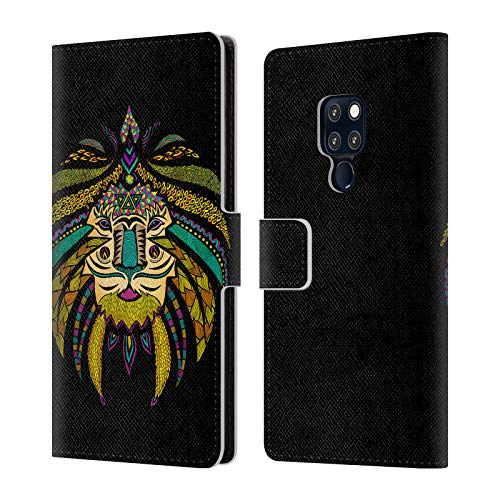 Official Pom Graphic Design The Whimsy Lion Animals Leather Book Wallet Case Cover for Huawei Mate 20