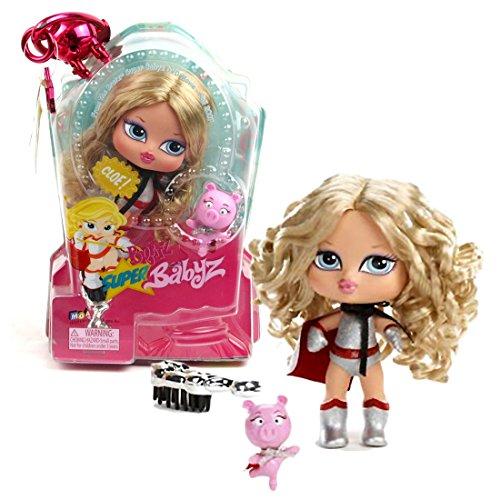(MGA Entertainment Bratz Super Babyz Series 5 Inch Doll - CLOE with Sidekick Angel The Super Pig and Hairbrush)