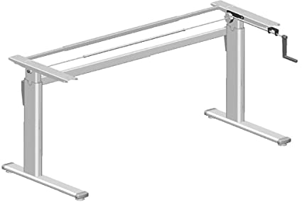 Mesa estructura manual Altura Regulable 72 - 119 cm: Amazon.es ...