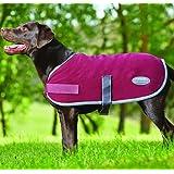 """Weatherbeeta Fleece Dog Coat - 22"""" - Burgundy/grey 2 Tone"""