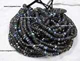 Full 7 Inch X 1 Strand Fine Quality Blue Fire LABRADORITE Gmestone 6.5-7 mm Approx Faceted Rondelle Beads.