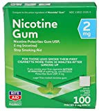 Rite Aid Nicotine Gum, Cool Mint Flavor, 2 mg - 100