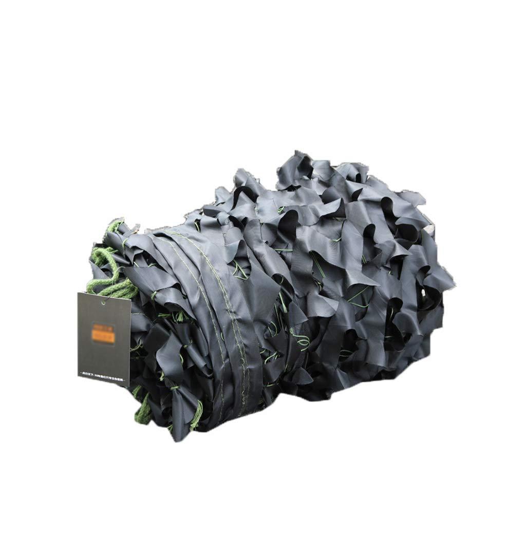 LQQFF Schwarzes CP-Single-Cut-Blendennetz mit einfarbigem Blaumen-Camouflage-Tarnnetz Tragbarer Sonnenschirm