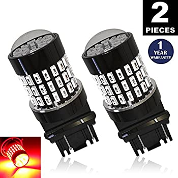 LUYED 2 X 900 Lumens Super Bright 3014 78-EX Chipsets 3056 3156 3057 3157 LED Bulbs Used For Brake Lights,Tail Lights,Red