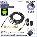FindFine 3.5M 11.5FT Cable Android phone USB Endoscope 5.5MM Lens HD Waterproof Snake Borescope USB Camera