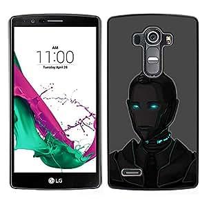 EJOY---Cubierta de la caja de protección para la piel dura ** LG G4 ** --Arte Ojos azules Robot Ai Tecnología Futuro