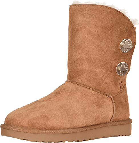 UGG Womens Classic Short Turnlock Boot, Chestnut, Size 9