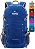 Venture Pal 40L Lightweight Packable Backpack with Wet Pocket - Durable Waterproof Travel Hiking Camping Outdoor Daypack for Women Men-Navy