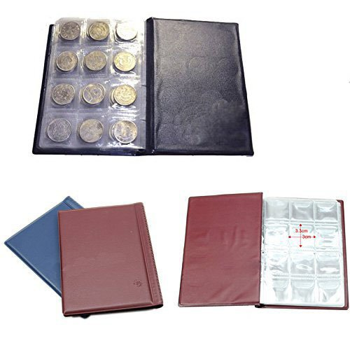 Bhbuy Hot 120 Coin Holder Collection Storage Collecting Money Penny Pockets Album Book