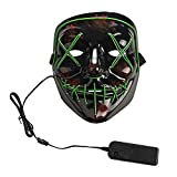 GNRC LED Light Mask Up Funny Mask The Purge Election Year Great for Cosplay Halloween (Green)