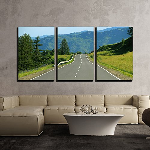 Nature Landscape with a Highway x3 Panels
