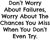 Frankies Cajun Customs Don't Worry About Failures Vinyl Decal, Wall, Car, Laptop - Violet - 50 inch