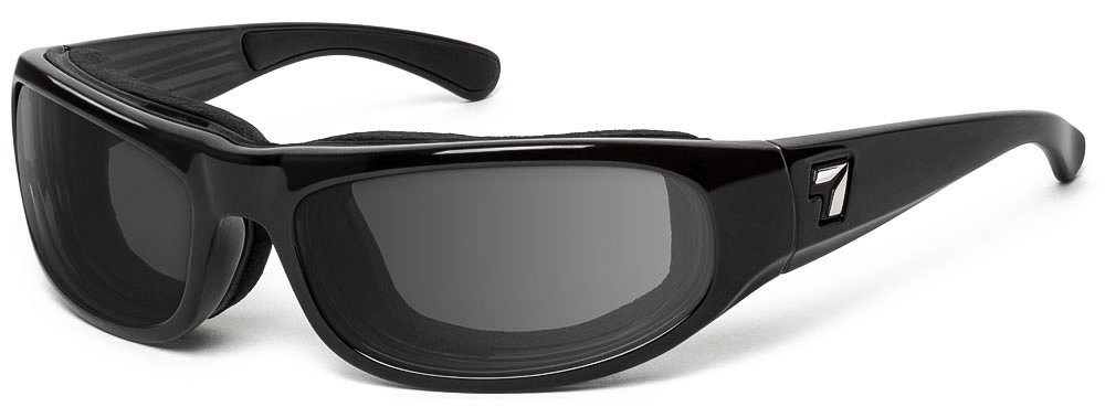Black Glossy Frame Small//Large Solvari Corp 120517.0 7eye Whirlwind Photochromic Sunglasses Gray Eclypse Lens