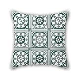 NICEPLW Bohemian pillow shams 16 x 16 inches / 40 by 40 cm best choice for car,dance room,boy friend,car,car seat,family with each side