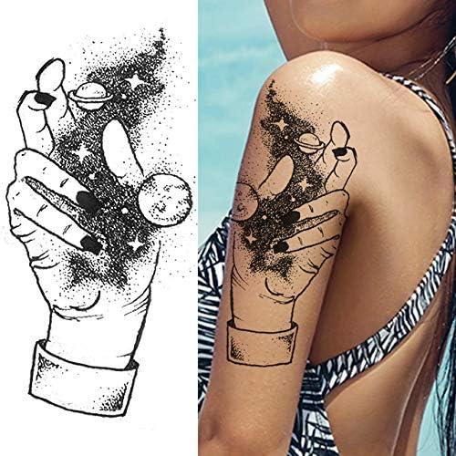 Mdsfe Creative Lotus Snake Temporary Tattoos Sticker For Women 3d Body Art Painting Legs Arm Tatoo Decal Fake Waterproof Black Tattoos Dmz137 Amazon Co Uk Kitchen Home