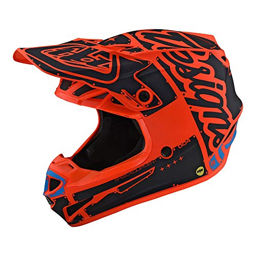 Troy Lee Designs Adult Polyacrylite SE4 Factory | Offroad | Motocross | Helmet (Large, Orange)