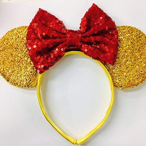 Beauty and the Beast Ears, Belle Ears, Belle Mickey Ears, Disney Inspired Beauty and the Beast Ears, Gold Minnie ears,