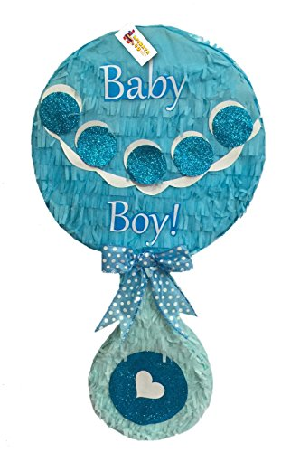 APINATA4U It's a Boy! Blue Baby Rattle Pinata Baby Shower Party Favor ()