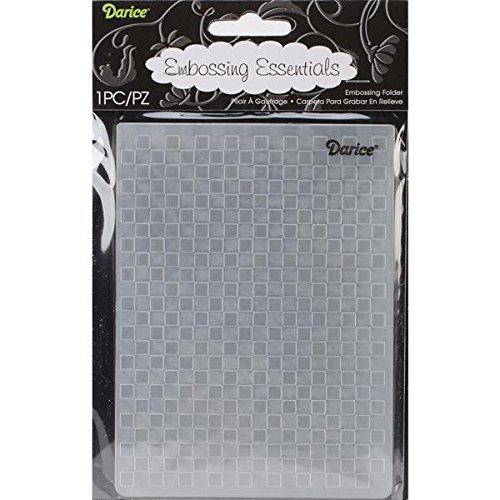 Checkered Folder (Darice Embossing Folder, 4.25 by 5.75-Inch, Checkered)