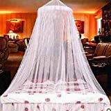 Bed Mosquito Net Canopy Netting Curtain Dome Fly Midges Insect Stopping White for Holiday indoor Kids Bed Canopy Cotton Mosquito Net Kids Play Tent Curtains Room Decoration for Baby Indoor Outdoor Playing Reading (Pink)