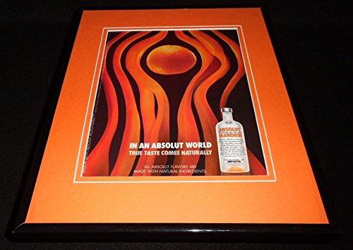 2009 Absolut Mandarin Vodka Framed 11x14 ORIGINAL Advertisement ()