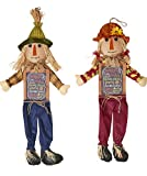 Worth Imports 36'' Hanging Scarecrow with Sign, Set of 2