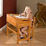 Lipper International 564P Child's Slanted Top Desk and Chair, Pecan (Toy)