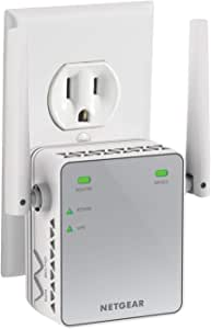 NETGEAR WiFi Range Extender EX2700 - Coverage up to 800 sq.ft. and 10 devices with N300 Wireless Signal Booster & Repeater (up to 300Mbps speed), and Compact Wall Plug Design