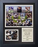 Legends Never Die NFL Oakland Raiders 70's Offensive Greats Framed Photo Collage, 12'' x 15''