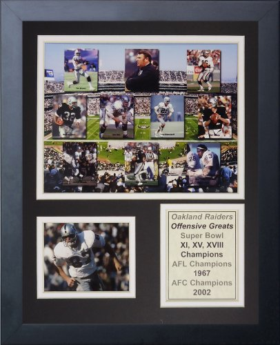 Legends Never Die NFL Oakland Raiders 70's Offensive Greats Framed Photo Collage, 12'' x 15'' by Legends Never Die