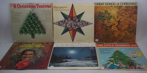 Christmas Holiday Music Lot of 6 Vinyl Record Albums The Little Drummer Boy and more