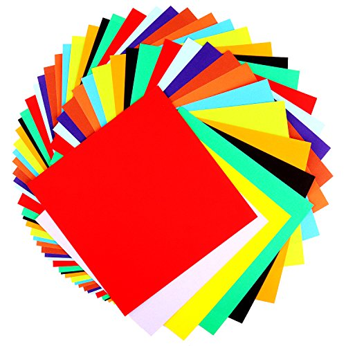 - 200 Count Origami Paper, Double Sided Colors, 6-Inch For Arts and Crafts Projects