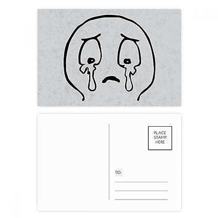 DIYthinker Estalló en lágrimas Negro Emoji Patrón Gracias ...