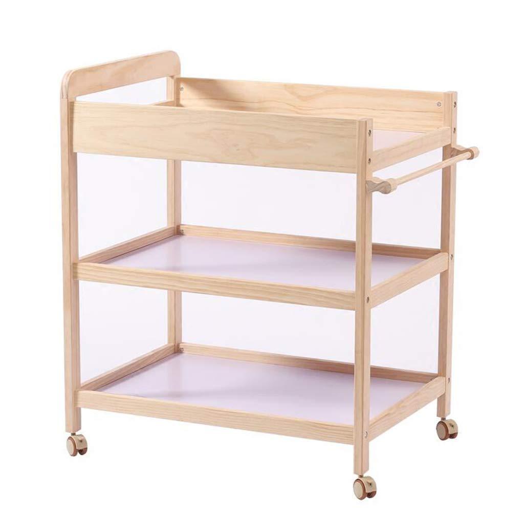ベビーおむつテーブル、それは固体の木のケアステーションを移動することができますベビー服ストレージテーブル多機能ベビーベッド、95-100CM (サイズ さいず : 86*58*95CM) 86*58*95CM  B07LH13LKB